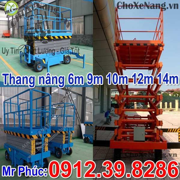 Thang Nâng điện 6m 9m 12m 14m
