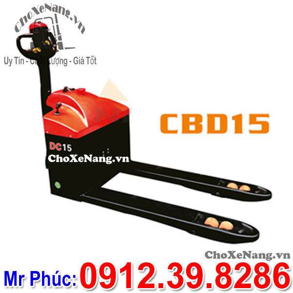 Xe Nâng điện Thấp 1.5 Tấn Nâng Cao 20cm Model CBD15