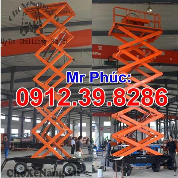 thang nâng điện kéo tay 14m