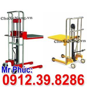 Xe Nâng Tay Cao Mini 400kg 500kg Nâng Cao 1.3m 1.5m Giá Tốt