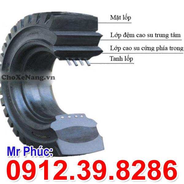 cấu tạo lốp đặc xe nâng