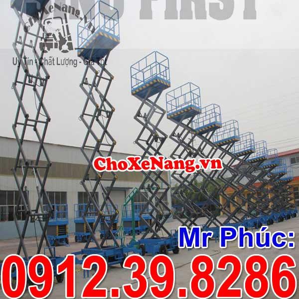 Xe thang nâng người làm việc trên cao